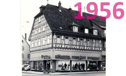 Modehaus Haug Kirchheim im Jahr 1956