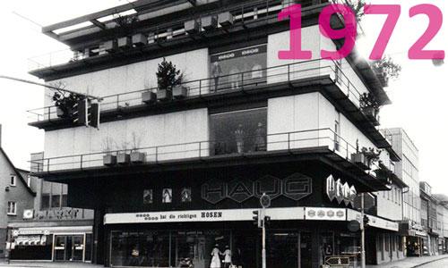 Modehaus Haug Kirchheim im Jahr 1972