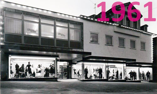 Modehaus Haug Nürtingen im Jahr 1961