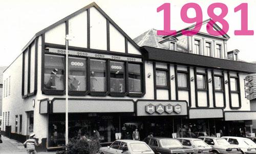 Modehaus Haug Nürtingen im Jahr 1981