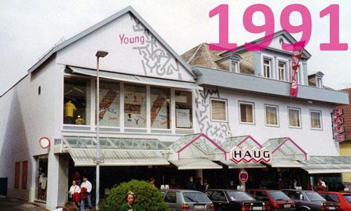 Modehaus Haug Nürtingen im Jahr 1991